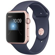Apple Watch 42mm Rose Gold Case with Midnight Blue Sport Band